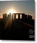 Sunset At Stonehenge 3 Metal Print by Deborah Smolinske