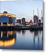 Sunset At The Dock Metal Print by CJ Schmit