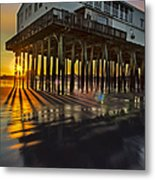 Sunset At The Pier Metal Print by Susan Candelario