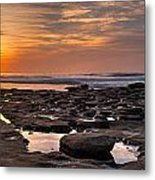 Sunset At The Tidepools II Metal Print by Peter Tellone