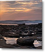 Sunset At The Tidepools IIi Metal Print by Peter Tellone