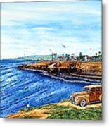 Sunset Cliffs Ocean Beach Metal Print by John YATO