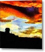 Sunset Colours Metal Print by Ayse Deniz