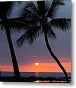 Sunset In Hawaii Metal Print by Athala Carole Bruckner