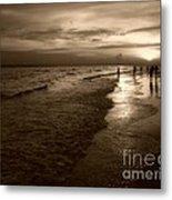 Sunset In Sepia Metal Print by Jeff Breiman