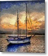 Sunset In The Bay Metal Print by Dragica  Micki Fortuna
