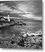 Sunset Lighthouse Metal Print by Jon Glaser