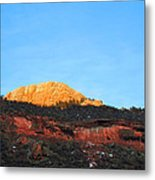 Sunset On Horsetooth Mountain Metal Print by Ric Soulen