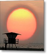 Sunset On The Beach Metal Print by Ben and Raisa Gertsberg