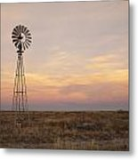 Sunset On The Texas Plains Metal Print by Melany Sarafis