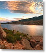 Sunset Over Horsetooth Metal Print by Preston Broadfoot