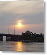 Sunset Over Meadowbrook Bridge Metal Print by John Telfer