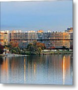 Sunset Over Watergate Metal Print by Olivier Le Queinec
