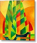 Sunset Sails And Shadows Metal Print by Tracey Harrington-Simpson