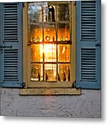 Sunset Through A Window Metal Print by Olivier Le Queinec