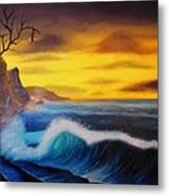 Sunset Wave Metal Print by Charles Eagle