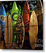 Surfboard Fence 4 Metal Print by Bob Christopher