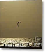 Surfing At Sunset 02 Metal Print by Arik Baltinester