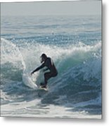 Surfing In The Sun Metal Print by Donna Blackhall
