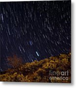 Surprise Trailhead Startrails Metal Print by Benjamin Reed