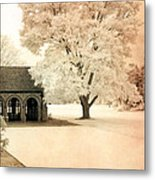 Surreal Ethereal Infrared Sepia Nature Landscape Metal Print by Kathy Fornal