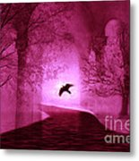 Surreal Fantasy Gothic Raven Crow Nature Metal Print by Kathy Fornal