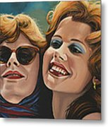 Susan Sarandon And Geena Davies Alias Thelma And Louise Metal Print by Paul Meijering