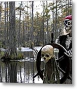 Swamp Pirate Metal Print by Karen Wiles