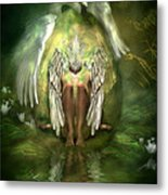 Swan Goddess Metal Print by Carol Cavalaris