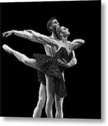 Swan Lake  Black Adagio  Russia  Metal Print by Clare Bambers