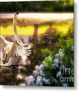 Swan Lake Metal Print by Lois Bryan