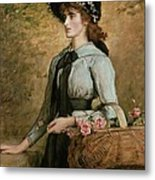 Sweet Emma Morland Metal Print by Sir John Everett Millais