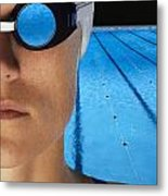 Swimmer With Goggles Metal Print by Don Hammond