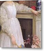 Symphony In White No 2 The Little White Girl Metal Print by James Abbott McNeill Whistler