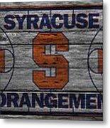Syracuse Orangemen Metal Print by Joe Hamilton