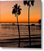 T Street Pier San Clemente California From The Book My Ocean Metal Print by Artist and Photographer Laura Wrede