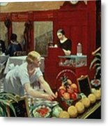 Tables For Ladies Metal Print by Edward Hopper