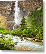 Takakkaw Falls Waterfall In Yoho National Park Canada Metal Print by Elena Elisseeva