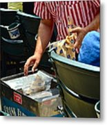 Take Me Out To The Ball Game Metal Print by Frozen in Time Fine Art Photography