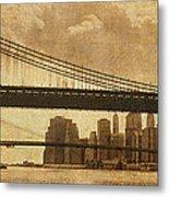 Tale Of Two Bridges Metal Print by Joann Vitali