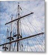 Tall Ship Masts Metal Print by Dale Kincaid