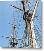 Tall Ship Rigging Metal Print by Dale Kincaid