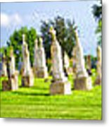 Tall Tombstones Panorama Metal Print by Thomas Woolworth