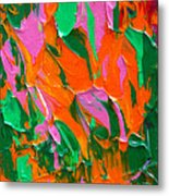 Tangerine And Lime Metal Print by Donna Blackhall