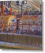 Tanker Fill Point Metal Print by Donald Maier