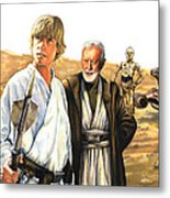 Tatooine Massacre Metal Print by Edward Draganski