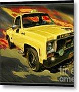 Taxicab Repair 1974 Gmc Metal Print by Blake Richards