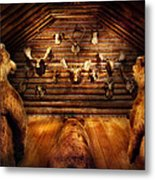Taxidermy - Home Of The Three Bears Metal Print by Mike Savad