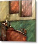 Teacher - The Teachers Desk Metal Print by Mike Savad