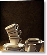Teacups Metal Print by Amanda And Christopher Elwell